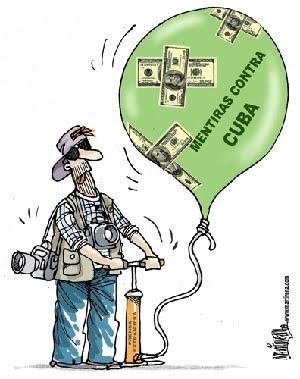 La campaña mediática contra Cuba