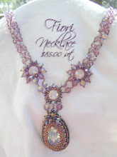 Fiori Necklace Swarvoski Crystal and Amethyst Crystal