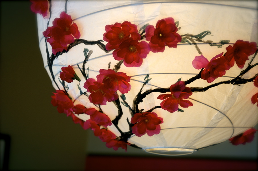 Как сделать светильник с цветами своими руками