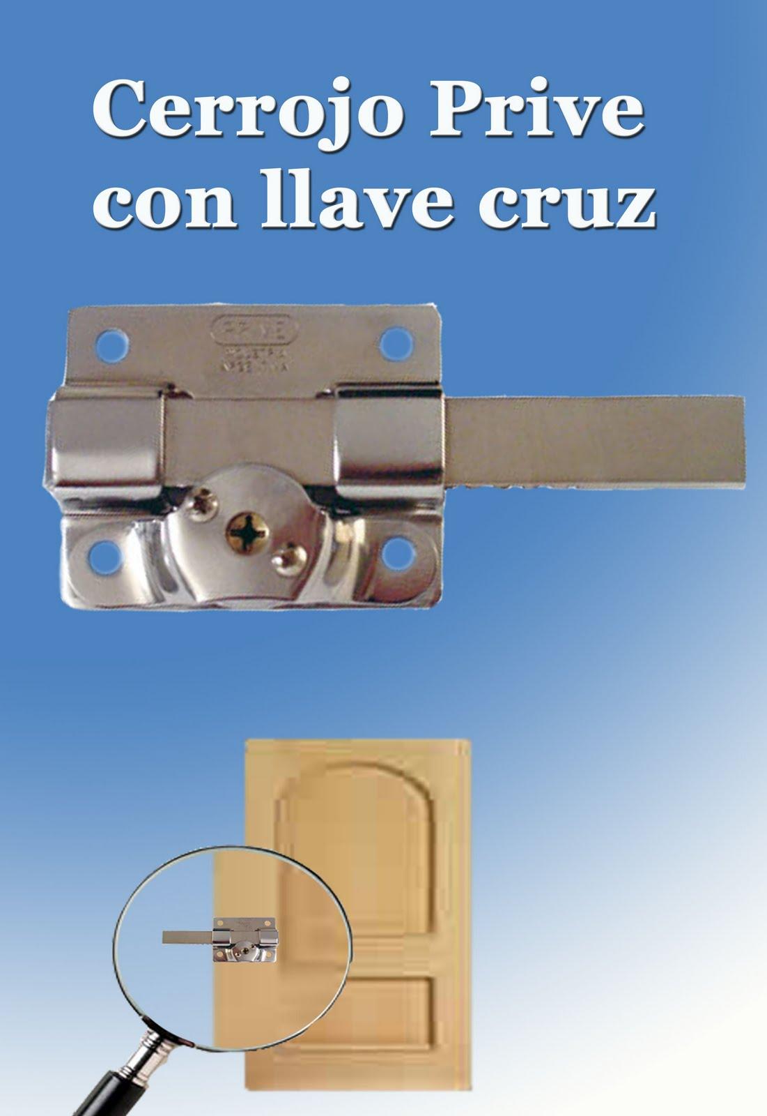 Herrajes zip cerrojo prive con llave cruz - Cerrojos con llave ...