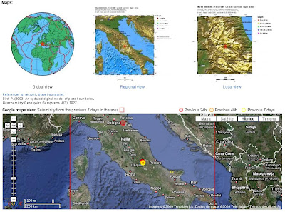 Sismorichter on Magnitude Mw 6 3 Region Central Italy Abrutian Apennine Date Time 2009