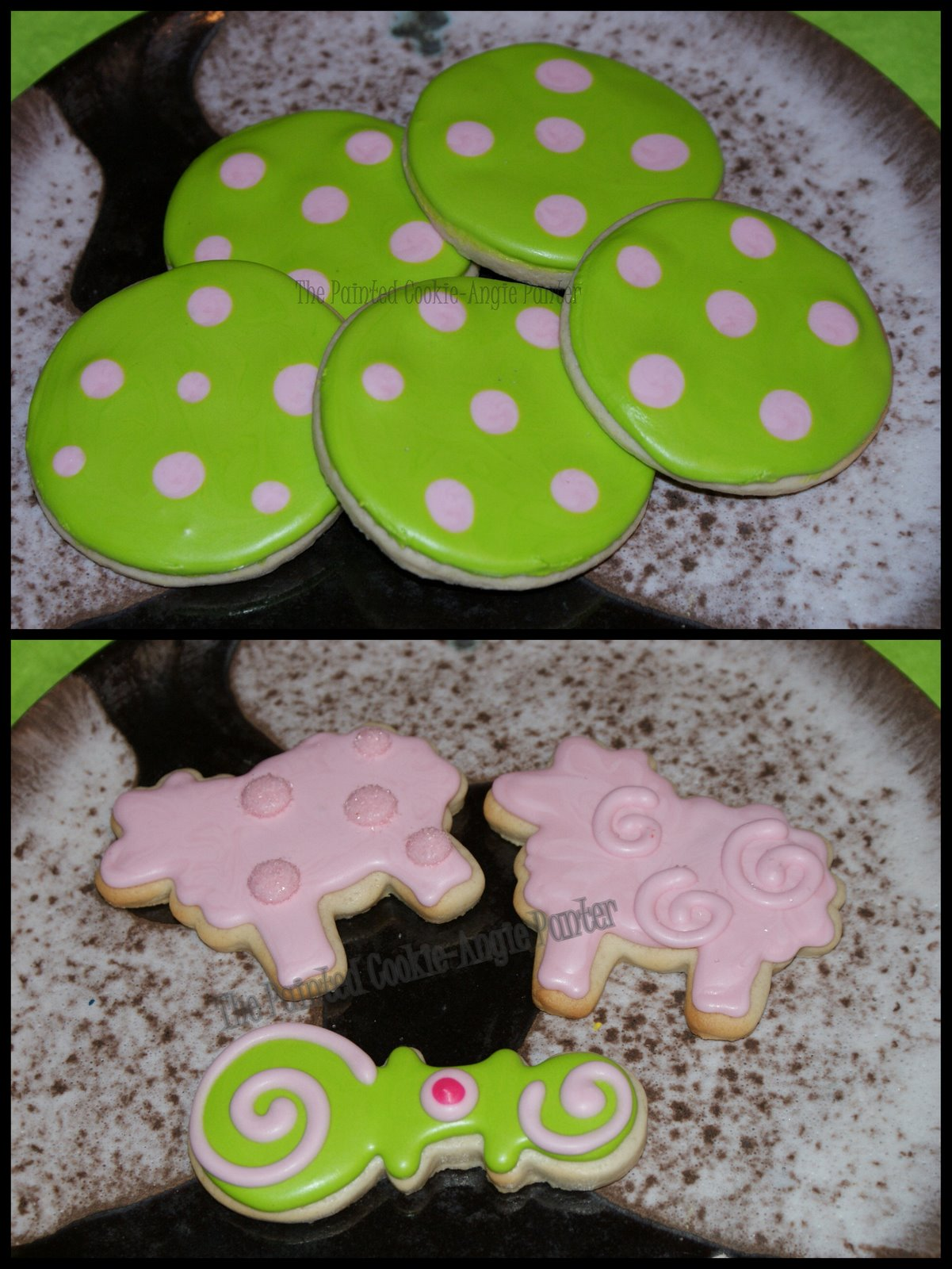 the painted cookie polka dot baby shower