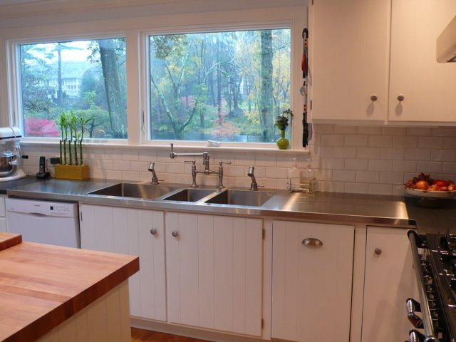 The good days and the bad parental kitchen remodel choices for Stainless steel countertop with built in sink