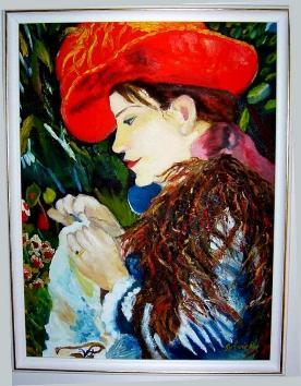 """INSPIRÉE PAR : """" MADEMOISELLE MARIE-THÉRÈSE DURANT-RUEL COUSANT"""", AUGUSTE RENOIR, 1882"""