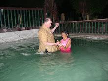 BRO.PAUL BAPTIZING TINAY, OLDEST OF THOSE WHO WERE BAPTIZED