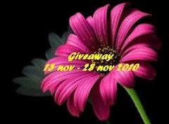 Giveaway 13 Nov - 28 Nov 2010