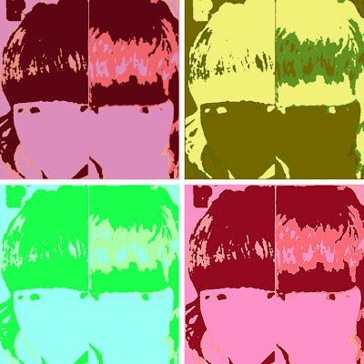 Resultado de mi avatar con Warholizer, en 4 cuadros