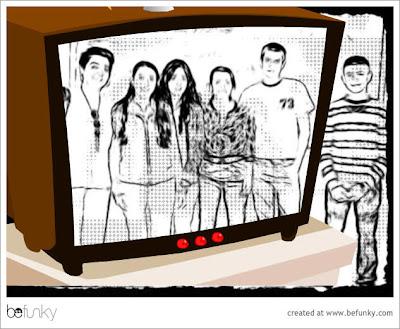 Fotografía de alumnos en la tele