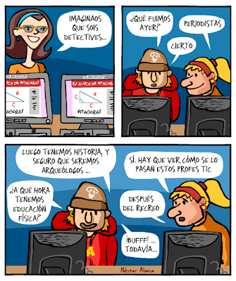 Viñeta de Nestor Alonso sobre las TIC