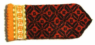 Latvian lady's mitten, Kurzeme region
