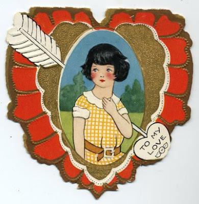 1924 children's Valentine, front