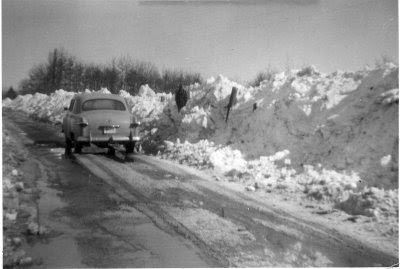 snow on Caesar Mountain, February, 1958