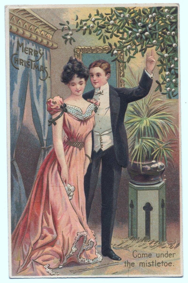 risque christmas cards 1910