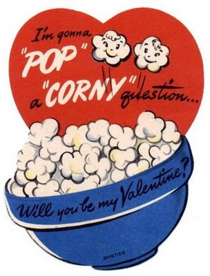 Here's some of the cute little vintage Valentine's I found: