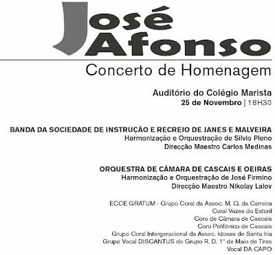 Homenagem José Afonso - Carcavelos