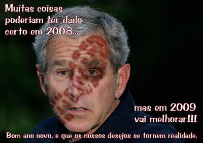 Bush e a sapatada
