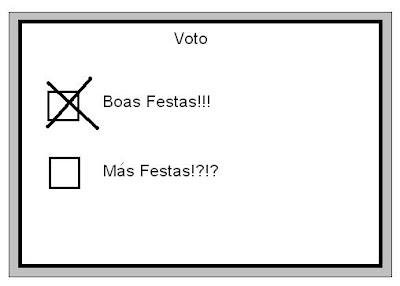 Voto de Boas Festas