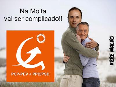 O abraço de Chico Lopes e Cavaco na Moita