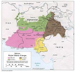 حدود إنتشار القومية البلوشية كما معترف به رسمياً
