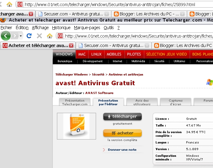 Telecharger avast antivirus gratuit 2011 pour windows 7 - Telecharger open office gratuit windows francais ...