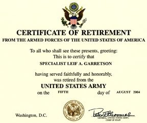 How to write an army retirement award