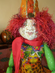 Orange Pudding cloth doll 18 inches tall $125.00 Au