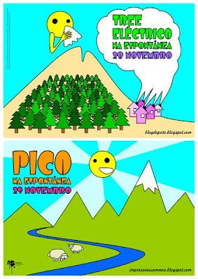 cartaz: Tree Eléctrico + Pico