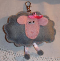 Porta-chaves: Ovelha cinzenta