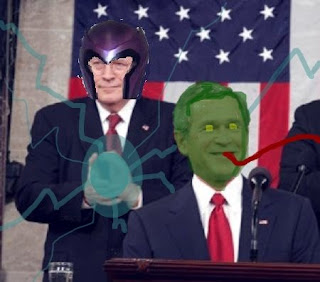 George Walker Bush Dick Cheney Magneto Toad Brotherhood Evil Mutants