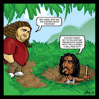 Sayid Jarah Hurley Hugo Reyes Cartoon torture joke strip Naveen Andrews Jorge Garcia