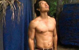 Jin Lost Island shirtless muscular