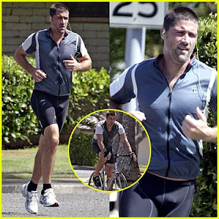 Jack Lost Island Shephard Matthew fox running jogging shorts penis bulge crotch package junk business
