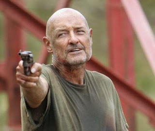 John Locke Terry O'Quinn gun pointing