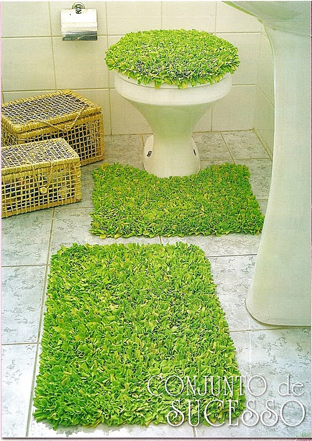 Monte voc mesmo tutorial jogo de banheiro de amarradinho for Como hacer alfombras en bordado chino