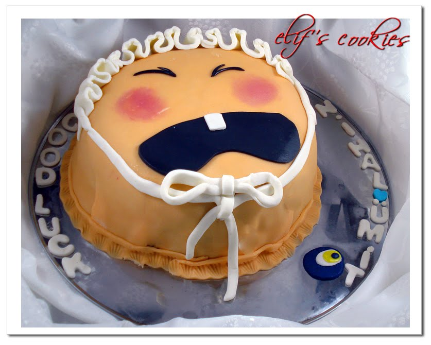 Crying Baby Face Cake on Crying Baby Shower Cake