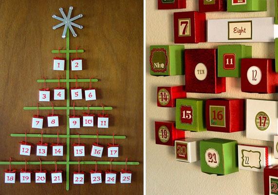 Advent Calendar Refill Ideas : Navidad calendários de advento
