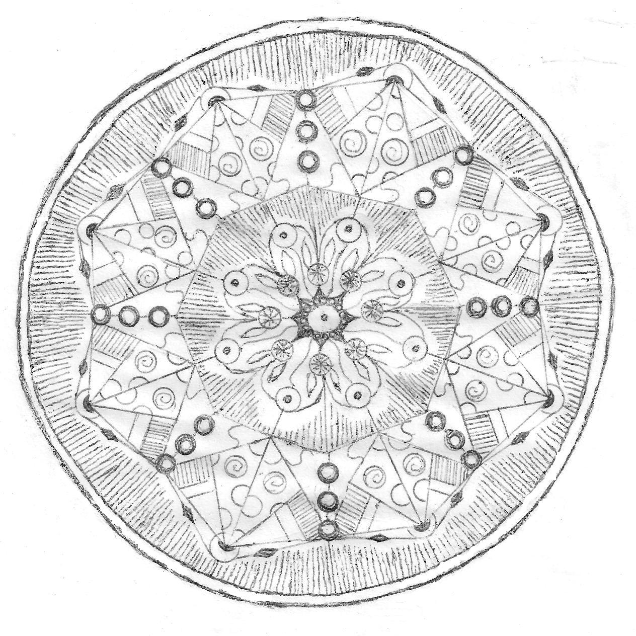 tibetan mandala coloring pages - photo#12