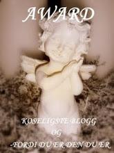 Award från fina Jenny med bloggen Hemma på Kråkered