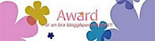 Min allra första blogg award som jag fått av Helena ,Mysigt hemma