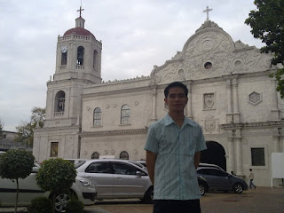 At the frontyard of the Cebu Metropolitan Cathedral