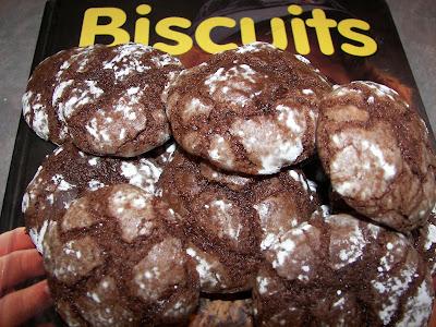 recettes  Biscuits craquelés au chocolat