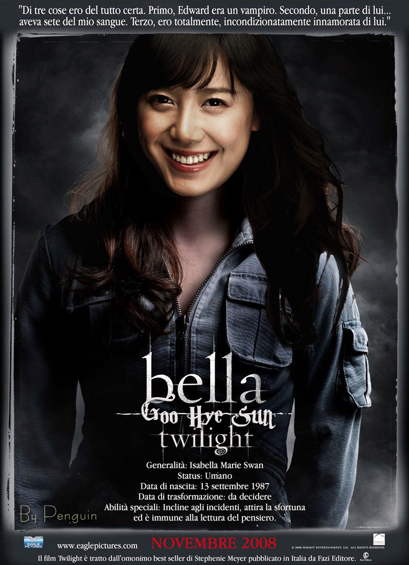 Lee Min Ho as Edward Cullen - Goo Hye Sun as Bella Swan
