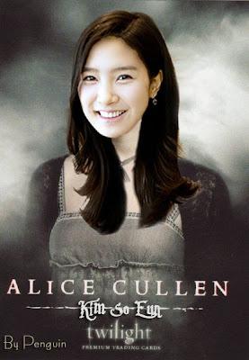 Kim Bum as Jasper Hale - Kim So Eun as Alice Cullen