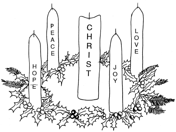 Printable Coloring Pages Advent Wreath : Advent Ideas
