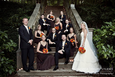 atlanta wedding photographer bridal party posed photos