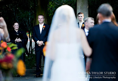 bride walking down teh aisle, atlanta wedding photographer