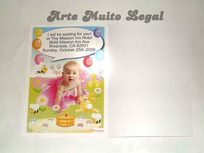 Arte muito legal - Convites infantis e lembrancinhas de  aniversário.