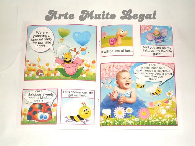 Arte muito legal - Convites infantis e lembrancinhas de aniversário