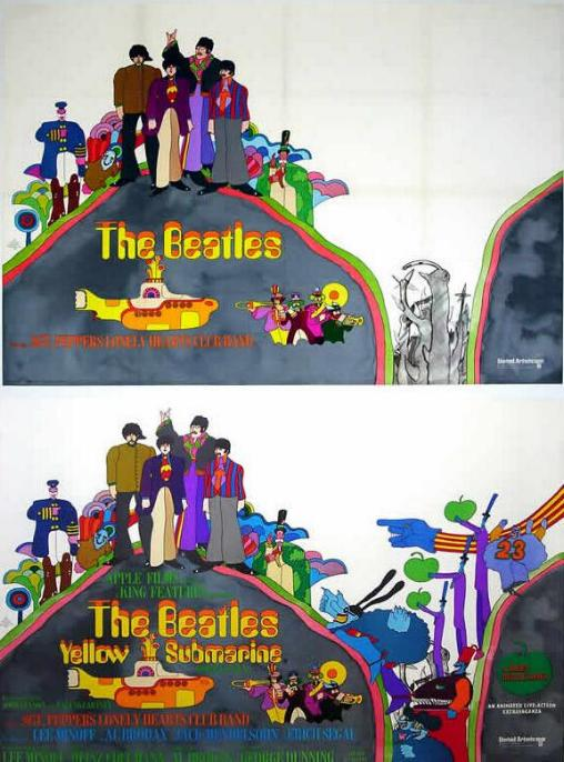"Разбираем ""Желтую подводную лодку"" (1968). WORKING+FINAL+PRINT+UK+MOVIE+POSTER"