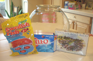 ... of clear bowl we used a fish bowl clean of course blue jello gummy